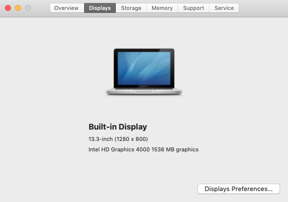 Apple Display Size