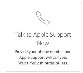 Apple phone support