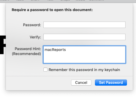 require a password