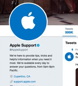 Apple Twitter Support