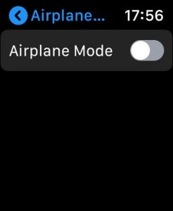 Apple Watch Airplane Mode