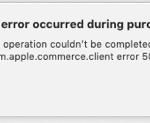 an error occurred during purchase