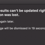 Genius results can't be updated right now