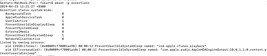 terminal app sleep mode