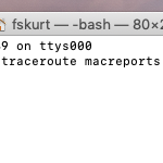 trace route on a Mac