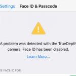 Face ID has been disabled