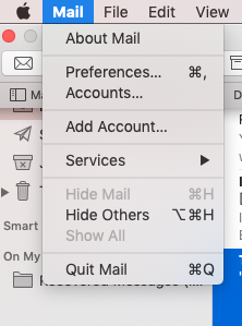 Mail app preferences