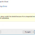 Outlook setup error