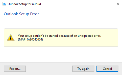 iCloud setup error