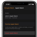 pair and unpair Apple Watch