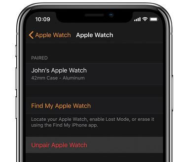 pair and unpair Apple Watch