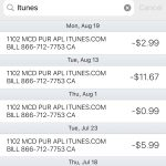 Apple iTunes Purchases