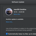 Catalina update notification