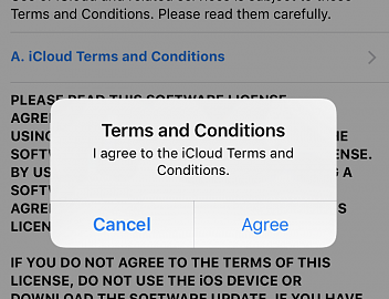 iCloud terms and conditions