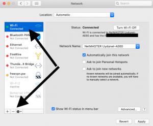 Mac Wi-Fi interface