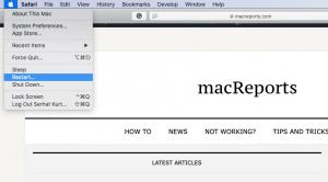 Restart your Mac