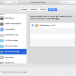 screen sharing permissions