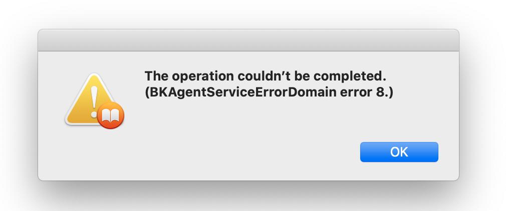 Books on Mac error