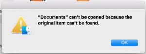 document opening error