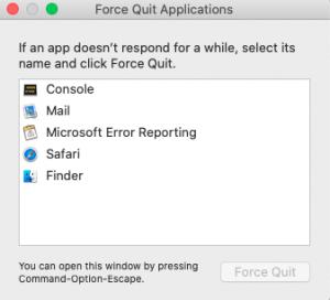Force Quit Finder
