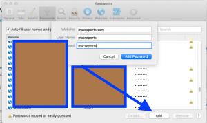 Safari macOS passwords