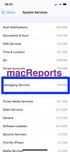 iMessage data use