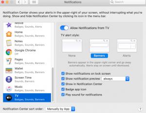 Tv app Mac
