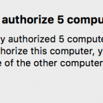 You can only authorize 5 computers