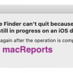The Finder can't quit