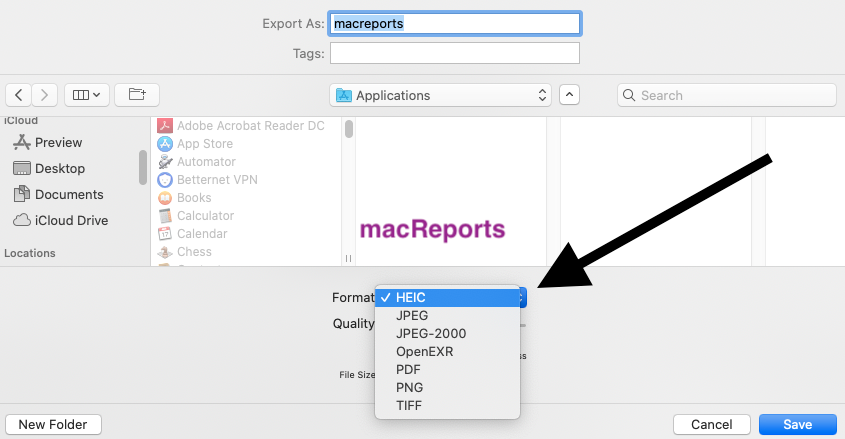 Heic To Jpeg Or Pgn Or Jpeg Or Png To Heic Convert Images On Mac Macreports