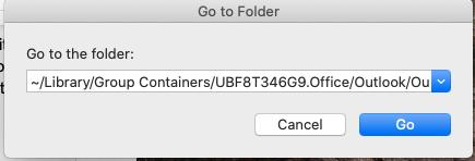 Outlook go to folder