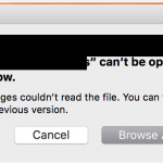 Pages cannot open a file