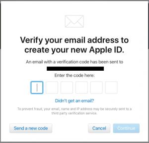 Apple ID verification