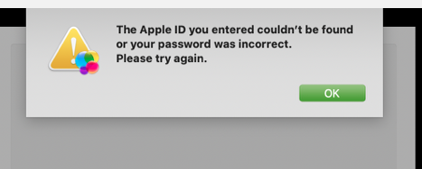 Apple ID could not found