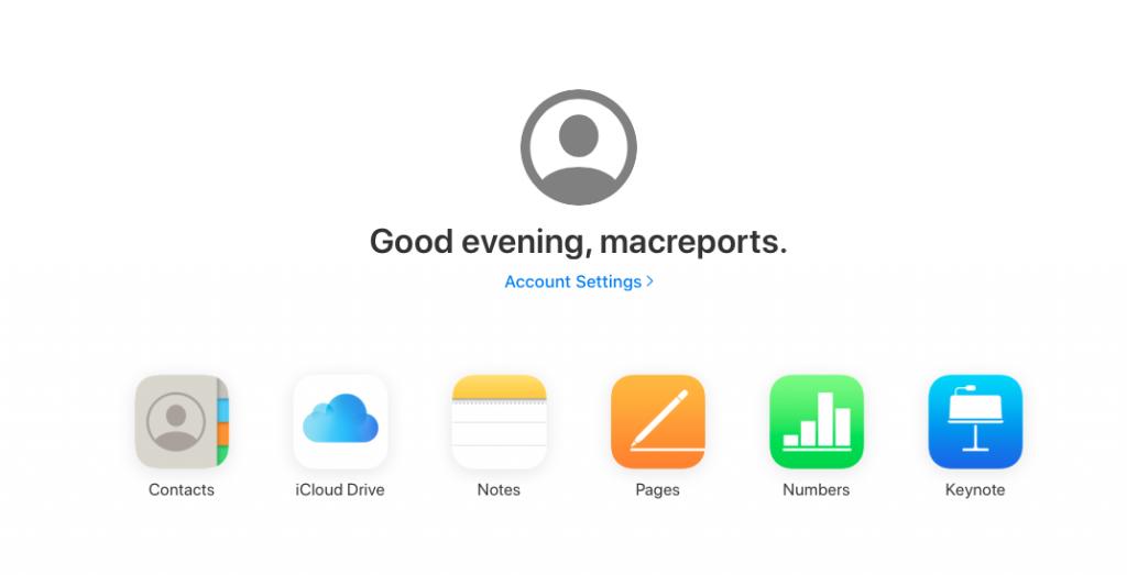Apple ID login to iCloud