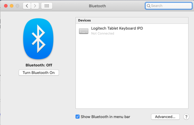 Mac Bluetooth settings