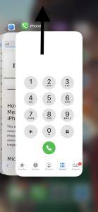 Restart the Phone app