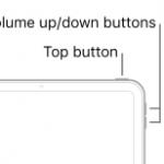 Restart iPad buttons