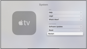 Apple TV Restart