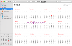 Family Calendar on Mac