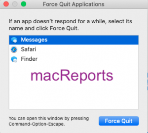 Messages force quit
