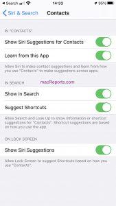Siri Contacts