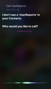 Siri Not Calling Contacts