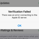 iOS: There was an error connecting to Apple ID server
