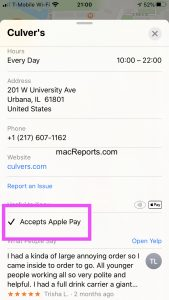 Accepts Apple Pay