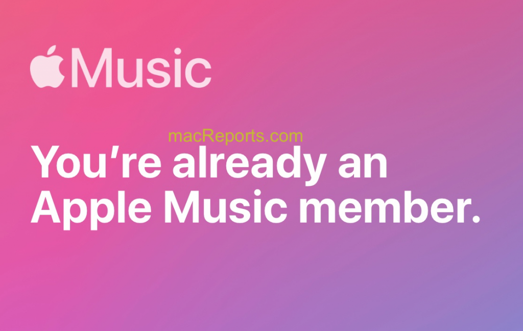 You are already an Apple Music member
