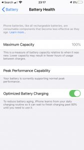 iPhone battery health