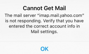 Yahoo Cannot Get Mail