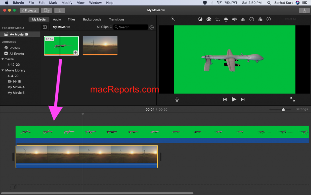 Change Green iMovie