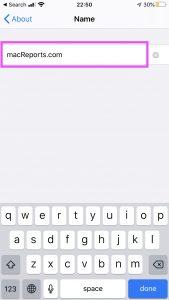 Change name iPhone or iPad